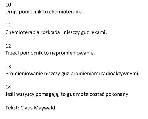 Claus Maywald Polnisch Mein Tumor ist böse Mój guz jest zły-2