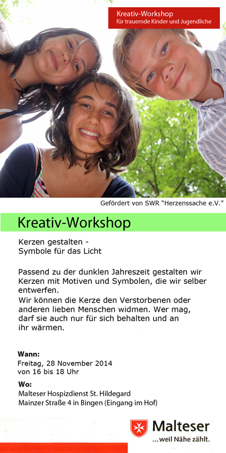 Claus Maywald Malteser Hospizdienst Bingen Kinder- und Jugendtrauer Kreativworkshop
