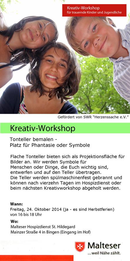 Claus Maywald Malteser Hospizdienst Bingen Kinder- und Jugendtrauer Kreativworkshop