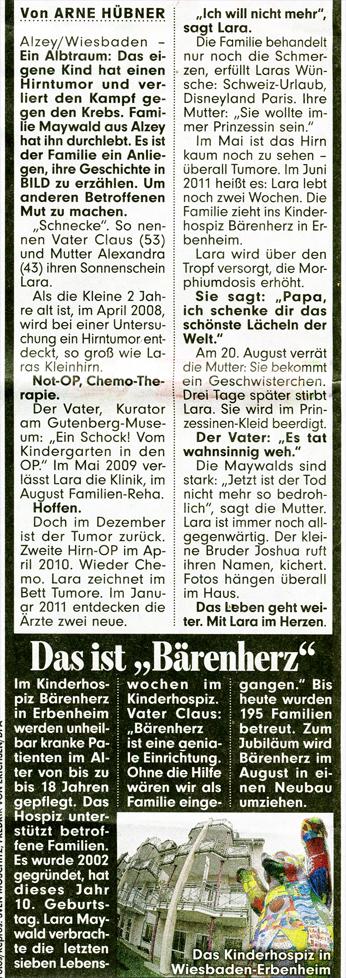 Lara Maywald Bildzeitung Claus Maywald