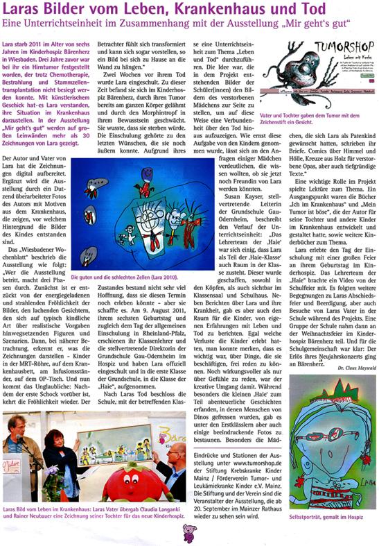 Claus Maywald Lara Maywald Ausstellung Mit gehts gut und Gau Oderheim Ausstellung