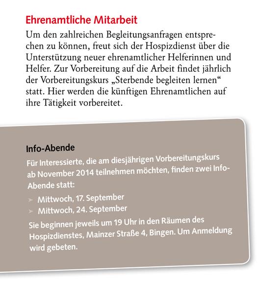 Claus Maywald Malteser Hospizdienst St. Hildegard in Bingen Kurs Sterbende begleiten lernen