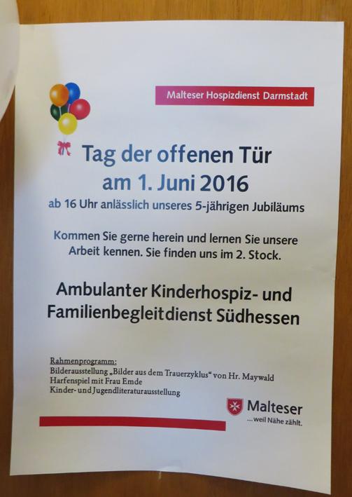 Claus und Lara Maywald Trauerzyklus Malteser Hospizdienst Darmstadt