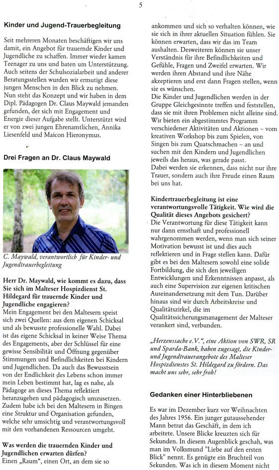 Claus Maywald Malteser Hospizdienst 10 2013 Aktuell Bingen