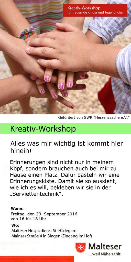 Claus Maywald Malteser Hospizdienst Bingen Kreativ-Workshop