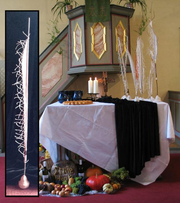 Claus Maywald Totensegel Papiersegel Kirche in Albig und Heimersheim