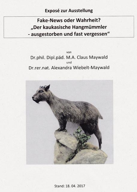 Claus Maywald Der kaukasische Hangmümmler Exposé zur Ausstellung