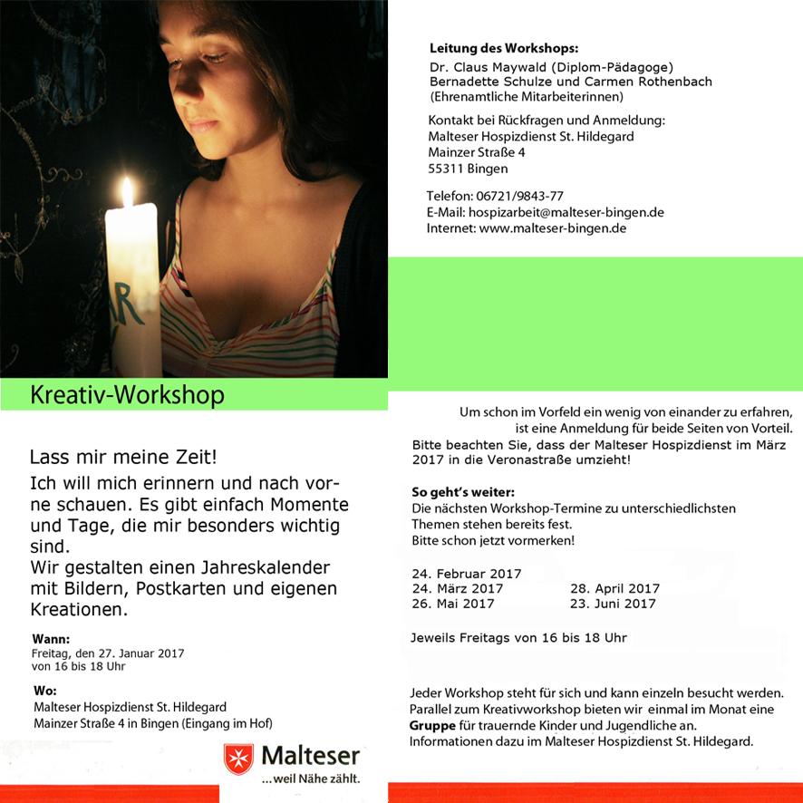 Claus Maywald Malteser Hospizdienst St. Hildegard Bingen Kreativworkshop